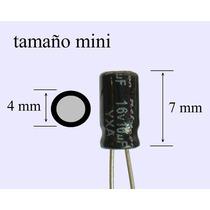 1000 Pzs Capacitor Electrolítico 10uf 16v Tamaño Mini