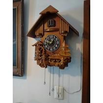 Reloj Cucú De Madera Antiguo