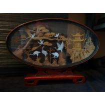 Diorama Cuadro Japones Hecho A Mano Artesanía