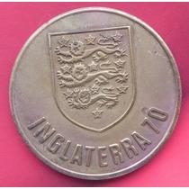 2 Medallas Fut Bol Mexico Y Inglaterra 1970 Bronze