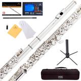 Mendini Flauta Transversal Plateada - 1 Año Garantía