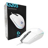 Mouse Gamer Logitech G203 Rgb Lightsync 8000 Dpi 6 Botones
