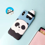 Case Funda Osos Escandalosos iPhone 6 6s 7 8 X 10 Bare Bears