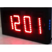 Reloj Digital De Pared De Leds Cronómetro Digitos De 10cm