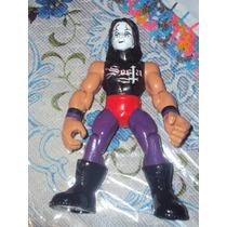 Figura Luchador Mexicano Dark Cuervo En Muñeco Patones Secta