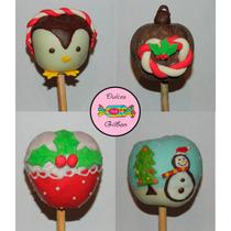 Manzanas Cubiertas Y Decoradas De Navidad Y Año Nuevo