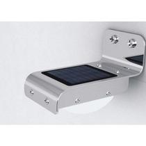 Lampara Solar Con 16 Led, Sensor De Luz Y Movimiento