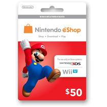 Tarjetas Eshop De Nintendo 3ds Y Wii U Americana 50usd