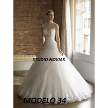 Vestido De Novia Nuevo Barato Modelo 34 Vestido Ivory Blanco