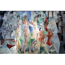 Lienzo Tela Robert Delaunay La Ville De Paris 1912 50 X 76cm