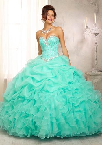 Vestido Xv Años Quinceaños 11 Colores Pedreria Compra Y Venta