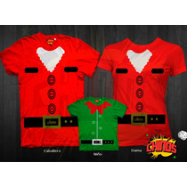 Playeras Para Navidad, Santa Claus, Duende, Santa Clos, $250