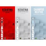Keratina Japonesa + Neutro + Shock Restaurador X 3 Litros
