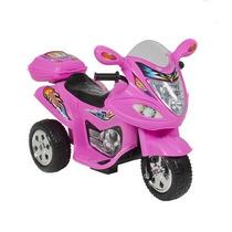 Motocicleta Electrica De 3 Ruedas Rosa, Roja Y Azul