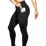 Leggins Mujer Deportivos Licra Gym Moda Bolsa Celular