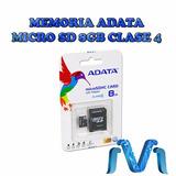 Memoria Adata Microsd 8gb Clase 4 C/adaptador Almacenamiento