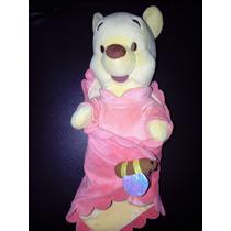 Peluche Winnie Pooh Babies Hermoso Con Cobija Disney Store