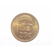 Monedas 20 Centavos Cultura Olmeca 1983 Y 1984