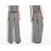 Pantalon Rayas Blanco Y Negro