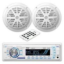 Pyle Stereo Radio Unidad Principal Receptor Y Kit De Altavoc