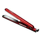 Plancha De Cabello Timco Tit-230r Roja Con Placas De Titanio 110v