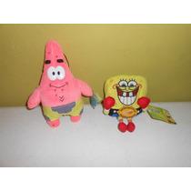 Lote 2 Peluches Bob Esponja Patricio Nickelodeon Nanco