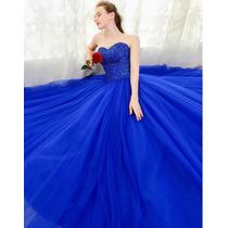 Vestido De Xv Años 15 Azul Rey Lentejuelas En Venta En