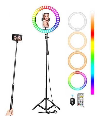 Aro Luz Led Maquillaje Lampara 10.2inch 16 Colores + Tripie