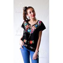 72ba894fd Lote 6 Blusas Artesanales Mexicanas Corte Kimono Y Flores en venta ...