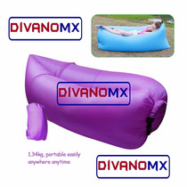 Divanomx Sillon Inflable Sofa Portatil *morado*