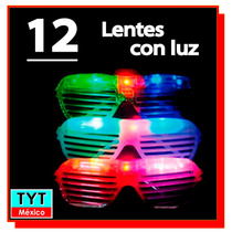 12 Lentes Rejilla Persiana Con Luz Led Fiestas Eventos Party