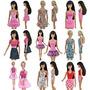 Moda Mini Vestido Teenitor¬ 5pcs Para La Muñeca De Barbie P