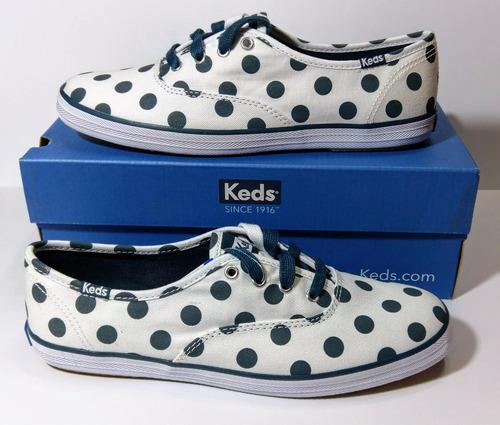 6bc815b0d1f Tenis Keds Champion Dot Blue Originales Para Mujer