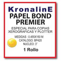 Rollo Papel Bond Para Plotter Bp420 0.455x150 N3 Mt Hp,epson