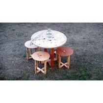 Mesas De Tarima Y Triplay Reciclados Diversos Diseños