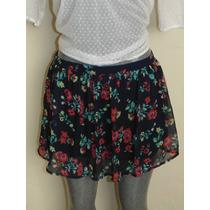 Faldas Hollister Co. M-l Floral Nueva Orig. Shorts,vestidos