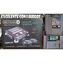 Retron 3 Hyperkin Nes Snes Y Sega Genesis Con 2 Juegos