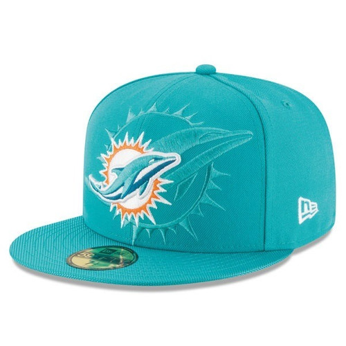 Miami Dolphins Gorra Official New Era 59fifty 8ad82516693
