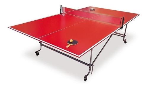 Mesa De Ping Pong Diversiones Bago Tijera Rojo