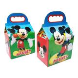 10 Cajas Dulcero Mickey Mouse Fiesta Bolo *