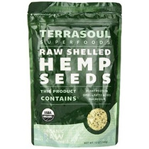 Terrasoul Superfoods Raw Cascado Semillas De Cáñamo (orgánic
