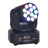 Luces Cabeza Movil Robotica 12 Led 5 W Wash Rgbw Disco Dmx