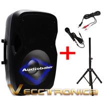 Bafle 15 Activo Audiobahn Con Hyper Leds Azul Audioritmicos