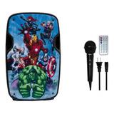 Bocina Recargable Bluetooth De 8 Usb Fm Eco Mic Avengers