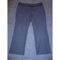Pantalon Fashion Bug Stretch Gris Con Negro Extra Grande 26