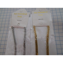 Cadena Acero Inoxidable Color Oro / Plata 316 L 4 Mm Dorado