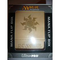 Magic Deck Box Imitacion Piel Mana Blanco Commander Ultra Pr