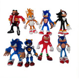 Set Sonic Boom-hedgeog 8 Personajes Tails-dr. Eggman-shadow