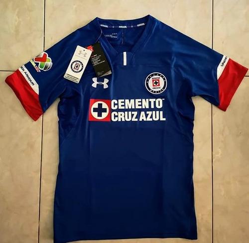d7536e7c2 Jersey Cruz Azul 2018 2019 Local Parche Liga Mx Incluido  499 i3rqj ...