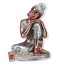 Figura De Buda Meditacion - Hecho A Mano 11 Cm Altura